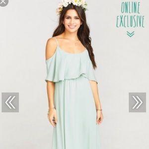 -dusty mint crisp bridesmaid dress